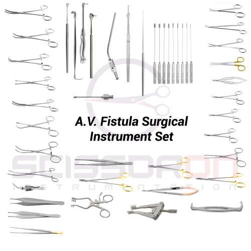 A.V. Fistula Surgical Instrument Set