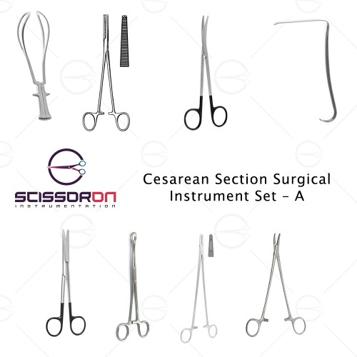 Cesarean Section Surgical Instrument Set – A
